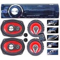 Estereo Luxell Rdx240b Usb Sd Bluetooth+combo 4parlantes 2tw