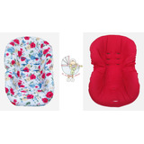 Funda Para Huevito De Bebé - Flores Rojas Y Azules-rojo