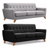 Sillon Sofa Retro Vintage 3 Cuerpos Placa Soft Antidesgarro