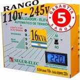 Elevador Automático Tensión 16 Kva Rango 110v Siempre 220v