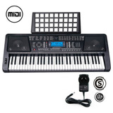 Teclado Musical Organo Piano T04 61 Teclas Display Lcd Midi