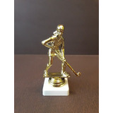 Trofeo Plástico Hockey Femenino Dorado Base Baja - Souvenir