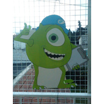 Piñatas En Goma Eva Mike, Monster Inc, Minions, Pocoyo,