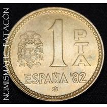 Moneda España 1 Peseta 1980 (80) - Mundial 1982 - Excelente