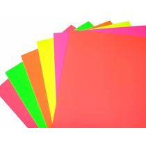 Cartulina Fluo Luma 118/125 Grs Colores X 10 Surtidos