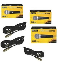 Combo Pack X 3 Microfonos Skp Pro 58 Sm Vocal Karaoke Cable