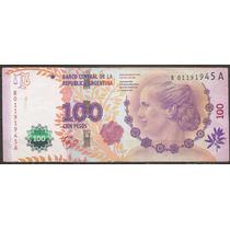 Argentina Billete De Evita Serie Reposición Letra A