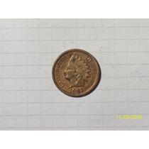 Estados Unidos 1 Centavos Indio 1907 Muy Linda
