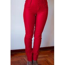 Pantalon De Gabardina Importado - Tiro Alto