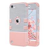 Funda Para iPod Touch 5/6/7 Generacion (blanca Y Rosa)