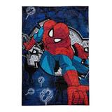 Frazada Piñata Flannel 1 1/2 Plaza Spider-man Wall