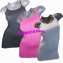 Musculosa Bretel Larga Moda Y Laycra Ideal Calzas