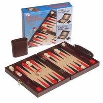 Backgammon Deluxe Magnético En Estuche Forrado Con Ecocuero