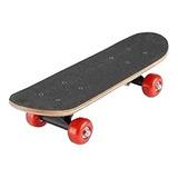 Skate Patineta Mini Doble Cola Lija Completa