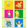 Iman 7cm - Acero Impreso - Los Simpsons - X Mayor
