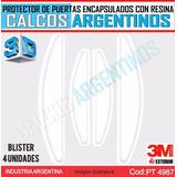 Protector De Puertas Transparente, Encapsulados C/resina 3d