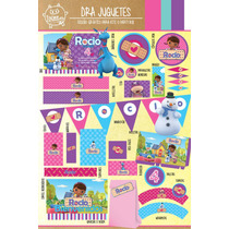 Kit Imprimible Personalizado Doctora Juguetes Candy Bar Deco