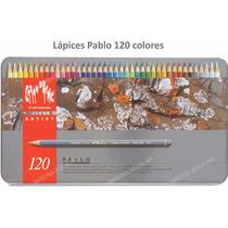 Lata 120 Lápiz Color Permanente Policromos Caran Dache Pablo