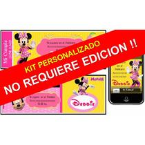 Kit Imprimible De Minnie Mouse Personalizado
