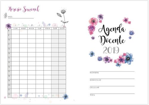 Agenda Docente Diseño Floral .pdf  Para Coser O Anillar
