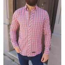 43aa4f1448 Camisa Cuadrille Escocesa Hombre Manga Larga H0701 H0705 en venta en ...