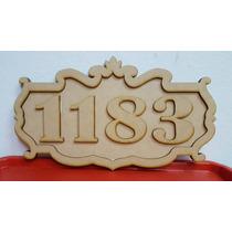 Cartel Números De Casa Fibrofacil Mdf Corte Laser