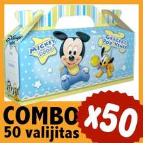 Mickey Bebe Cajita Valijita Bolsita Souvenir Combo X 50