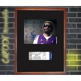 Snoop Dogg Foto Firmada Y Entrada Concierto Enmarcadas