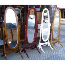 Espejos De Pie Rebatibles Ovalados! Nuevos! Elegi Tu Color!!