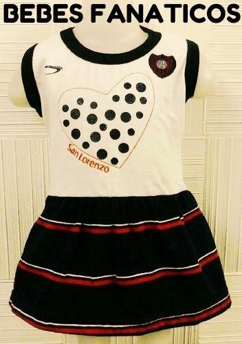 4c7e799e2 Vestido San Lorenzo   Oficial Bebe  Body Camiseta.river Boca ...