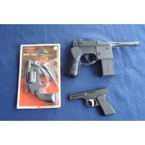 Juguetes Antig, Revolver, Pistolas, De Plastico, Lote