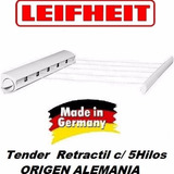 Tendedero Tender Extensible Retractil Enrollable Leifheit
