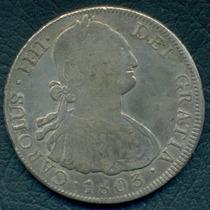 Moneda Potosí 1803 8 Reales Pj Cj#76.15 (plata)