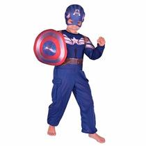 Disfraz Capitán América Licencia Original New Toys La Lucila