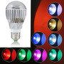 Lampara Led 6w E27 Rgb C/contro Remoto 16 Colores