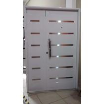 Portada Puerta Y Media Hojas De Abrir Blanca Pavir 120x200