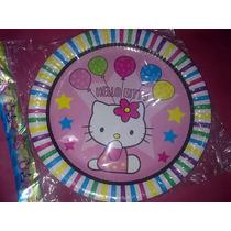 Platos Descartables X10 Hello Kitty Cumpleaños