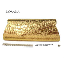 Cartera Fiesta Clutch Sobre Mano Animal Print Estilo Croco