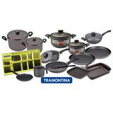 Set Bateria Juego De Cocina Tramontina Teflon 14 Unidades.