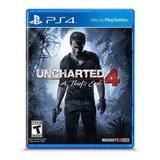 Uncharted 4 A Thief's End Ps4 Fisico Original Español Latino