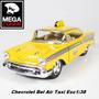 Auto Chevrolet Bel Air 1957 Taxi Coleccion Metal Esc1:38