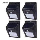 Luz Exterior Solar De 48 Leds Para Jardines Parques/garages