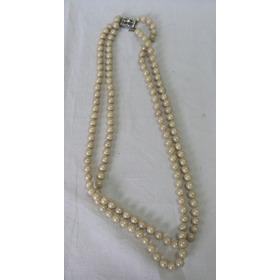 b7ff30dc31ed Antiguo Collar Vintage Perlas Fantasia Broche Rectangular