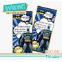 Batman - Invitación Para Imprimir