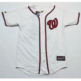Casaca Baseball Washington Nationals Majestic Talle L Niño