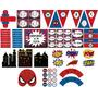 Cumpleaños Hombre Araña Kit Decoración Imprimible