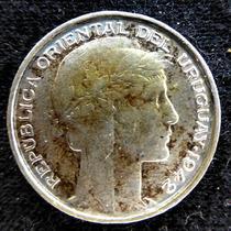 Moneda De Plata. 20 Centavos. Uruguay. 1942.