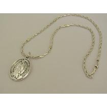 1b493422fe18 Cadena Espiga Con Dije Virgen De Guadalupe Plata Y Oro (di74 en ...