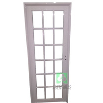 Puerta Aluminio Blanco Todo Repartido 70x200 As Abertura