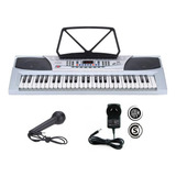 Teclado Organo Musical Piano Instrumento 54 Teclas Microfono